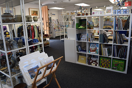 Image of contemporary craft shop interior